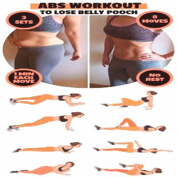 8-Minute Abs Workout To Lose Belly Pooch Fast