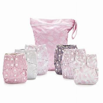 Simple Being Reusable Cloth Diapers- Double Gusset-6 Pack