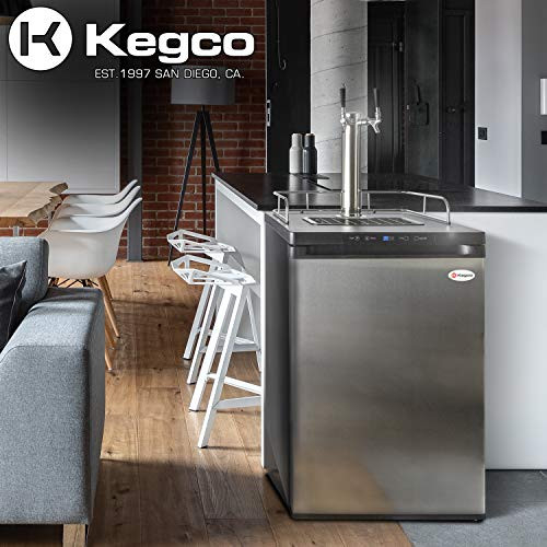 Kegco K309SS-124quot Wide Homebrew Single Tap Stainless Steel