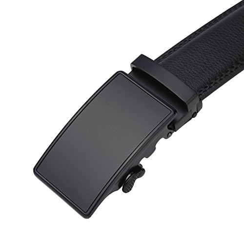 Lavemi Mens Real Leather Ratchet Dress Belt with Automatic