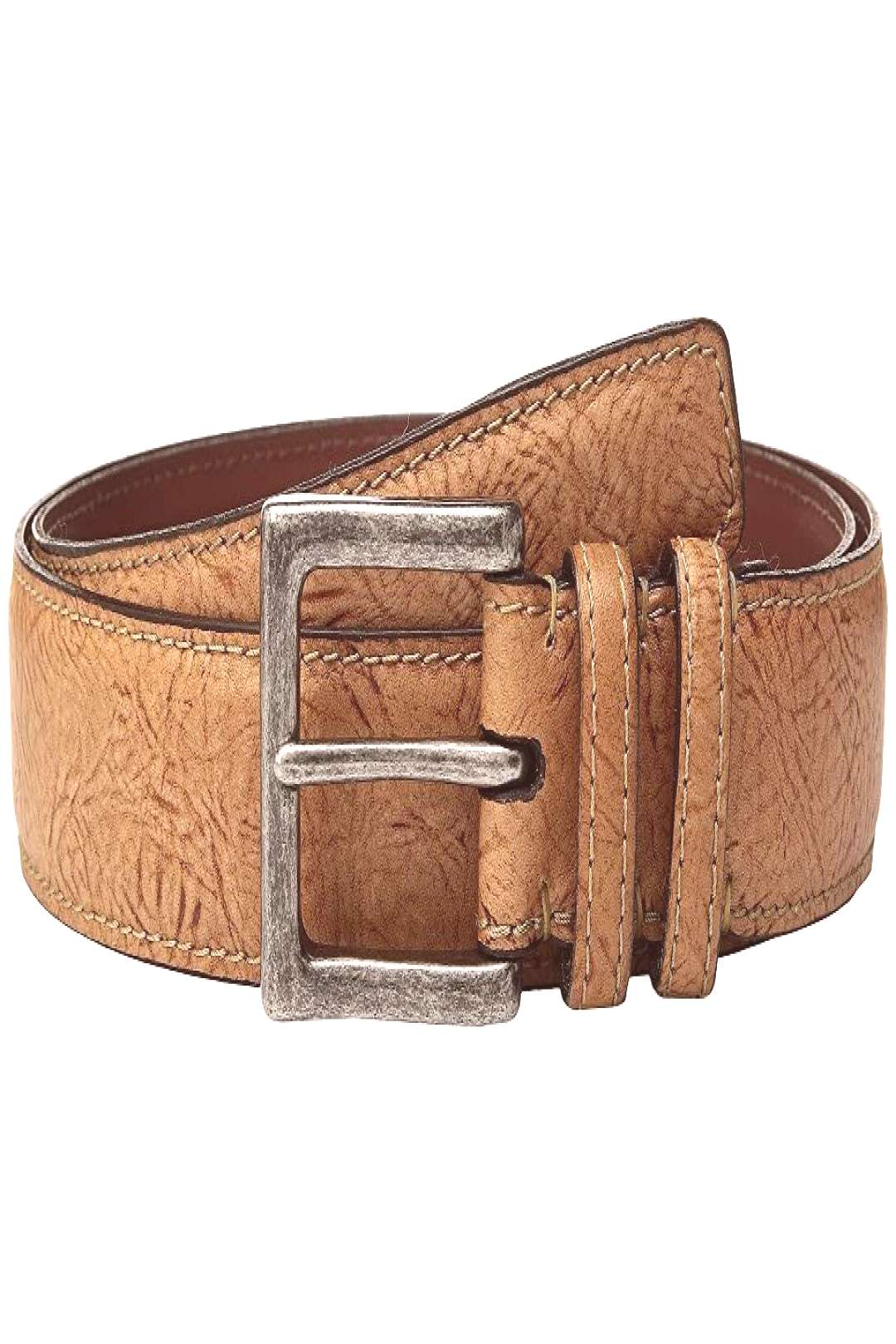 Torino Leather Co. 38mm Shrunken Calf Leather (Saddle) Mens Belts. Elevate your casual look with t
